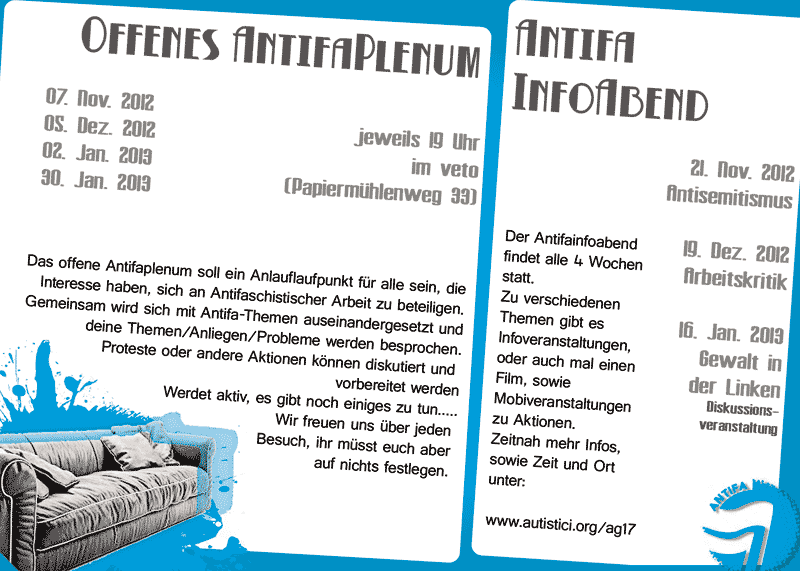 offenes Antifaplenum-Flyer