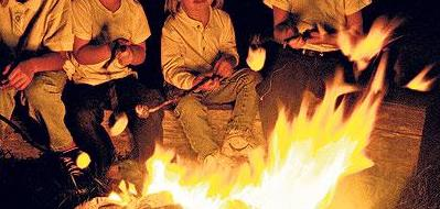 childs with fire