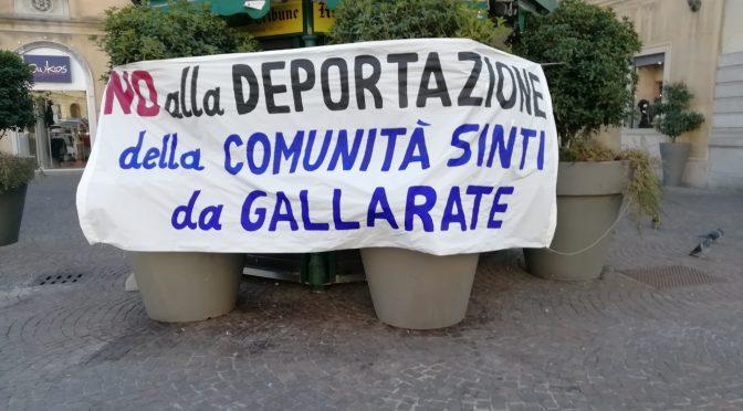 NO ALLA DEPORTAZIONE DELLA COMUNITÀ SINTI DA GALLARATE