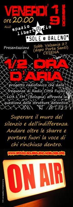 Presentazione di Mezzora d'aria @ Spazio Libertario Sole e Baleno | Cesena | Emilia-Romagna | Italia