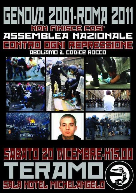 Assemblea Nazionale Contro la Repressione e per l'abolizione del Codice Rocco @ Sala Hotel Michelangelo | Teramo | Abruzzo | Italia