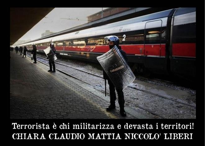 Presidio e cena benefit per i 4 NoTav accusati di terrorismo @ Sotto le due torri | Bologna | Emilia-Romagna | Italia