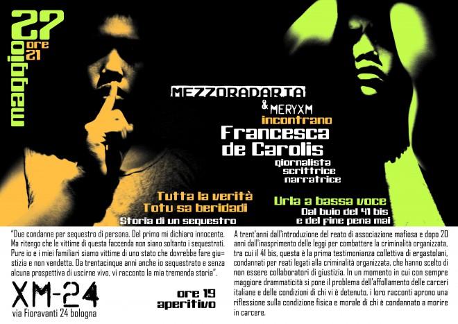 """Presentazione del libro """"Totu sa beridati. Tutta la verità - Storia di un sequestro"""" con Francesca De Carolis"""