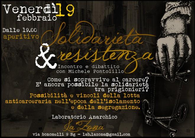 Solidarietà & Resistenza @ Laboratorio Anarchico LA*ZONA | Bergamo | Lombardia | Italia
