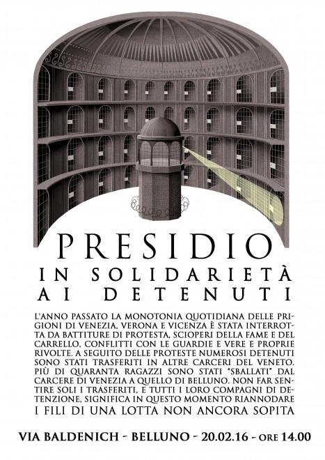 Belluno: Presidio in solidarietà ai detenuti @ Carcere di Udine | Belluno | Veneto | Italia