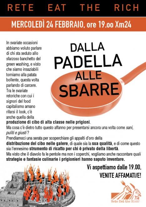 Bologna: Dalla padella alle sbarre @ Xm24 | Bologna | Emilia-Romagna | Italia