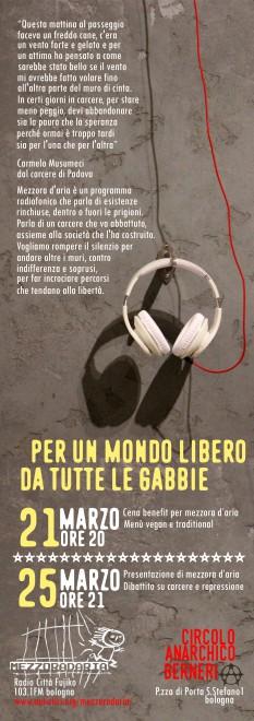 Cena di autofinanziamento e presentazione della trasmissione @ Circolo Anarchico C.Berneri   Bologna   Emilia-Romagna   Italia