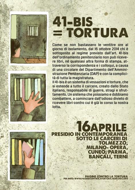 manifesto 16 aprile 41-bis=tortura