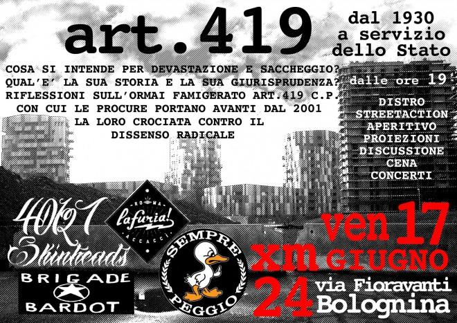 Art.419 dal 1930 al servizio dello stato @ Xm24 | Bologna | Emilia-Romagna | Italia
