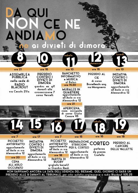 Torino: 2 settimane contro i divieti di dimora @ Torino