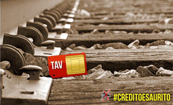 #creditoesaurito comunicato stampa sui costi della Torino-Lione