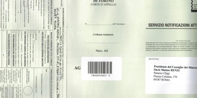 C'è posta per Renzi: una notifica dalla Val Susa