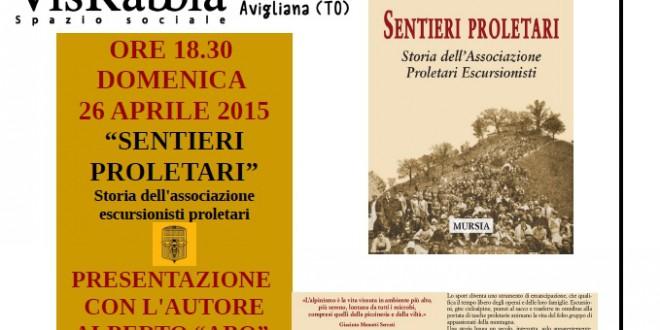 """Presentazione del libro """"Storia dell'associazione escursionisti proletari"""""""