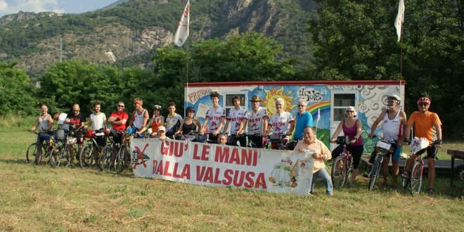 Partita da Susa la carovana ciclistica no tav