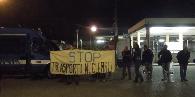 Trasporti nucleari: una nottata NO NUKE in Valsusa