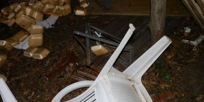 Materiale dell'apericena vandalizzato, chissà chi è stato…
