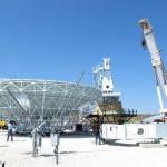 Le antenne paraboliche del sistema satellitare Usa nella base militare di Niscemi in attesa di essere installate. Caltanissetta,19 giugno 2013. ANSA/LAURENCE FIGA'-TALAMANCA