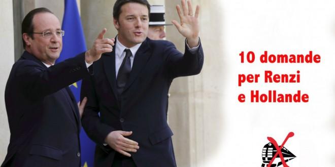 10 domande per Renzi e Hollande