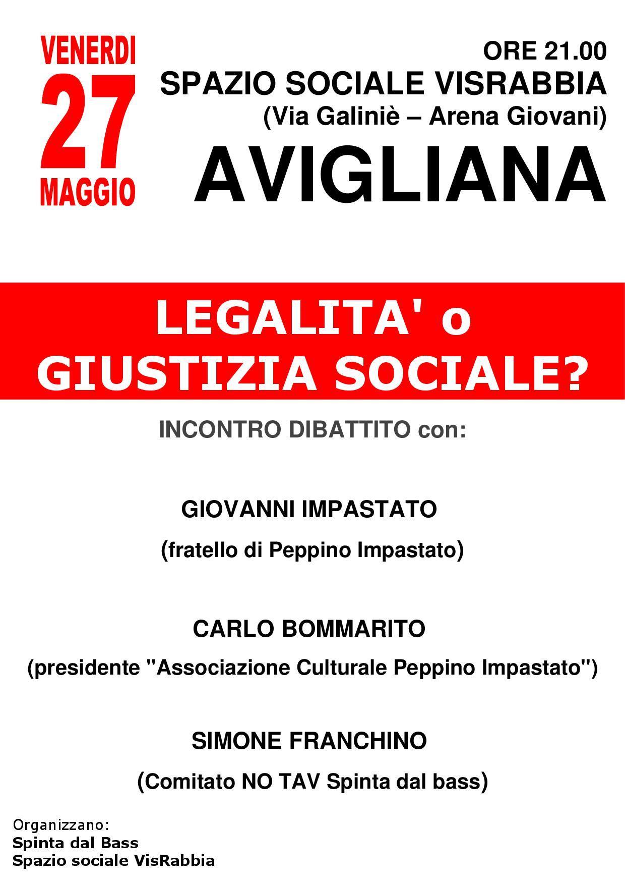 Legalità o giustizia sociale 27-5-2016