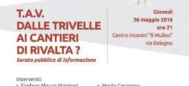 """26 maggio. Serata informativa """"Dalle trivelle ai cantieri di Rivalta?"""""""