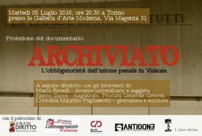"""Rifiutata la proiezione di """"Archiviato"""" alla biennale della Democrazia, ci si sposta in Cavallerizza"""