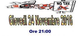 24/11. Serata informativa sul TAV a Buttigliera