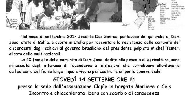Locandina con iniziative Joselita in Val Susa