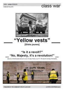 Class War 092019 Yellow Vests Třídní Válka Class War